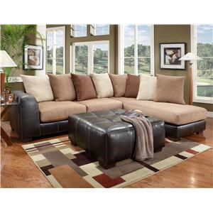 Affordable Furniture 6350 Sectional and Ottoman