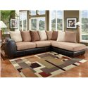 Affordable Furniture 6350 Two Piece Sectional - Item Number: 6351+6352