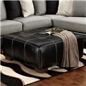 Affordable Furniture 6350 Party Ottoman - Item Number: 6355 Idol Steel