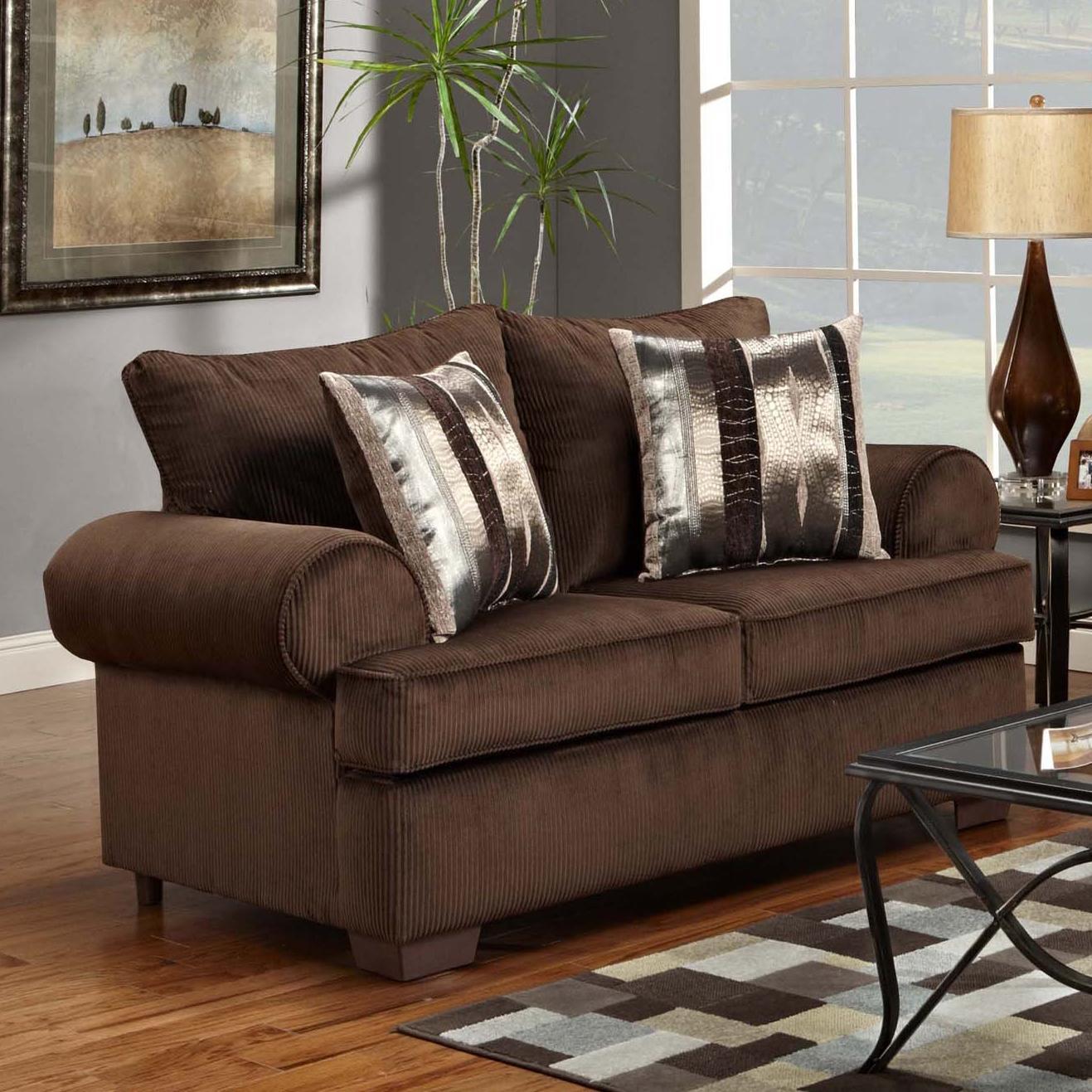 Affordable Furniture 6400 Loveseat - Item Number: 6402 B