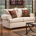 Affordable Furniture 6400 Loveseat with Rolled Arms - 6402