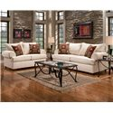 Affordable Furniture 6400 Stationary Sofa - Shown with Love Seat and Cocktail Table