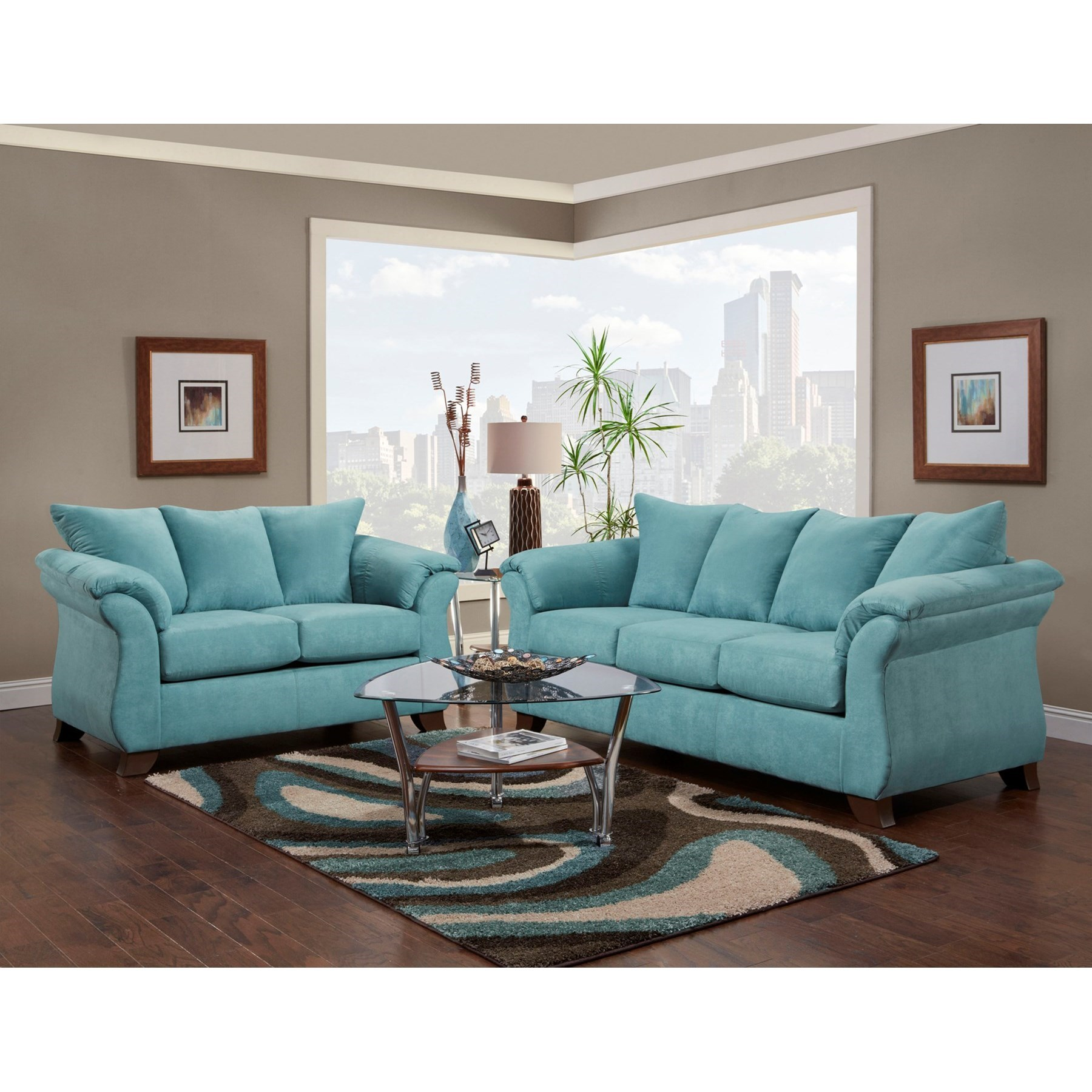 Affordable Furniture 6700 Living Room Group - Item Number: 6700 Living Room Group 1