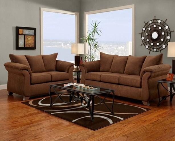 Affordable Furniture 6700 Sofa and Loveseat - Item Number: 6700CHOC