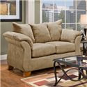 Affordable Furniture 6700 Loveseat - Item Number: 6702 Camel