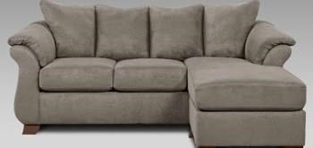 Affordable Furniture Grey Sofa/Chaise - Item Number: 446120