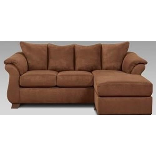 Affordable Furniture Chocolate Sofa/Chaise - Item Number: 902509