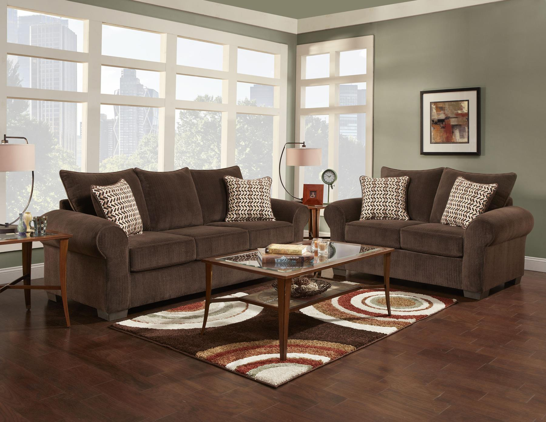 Affordable Furniture 7300 Stationary Living Room Group - Item Number: 7300 Living Room Group 1