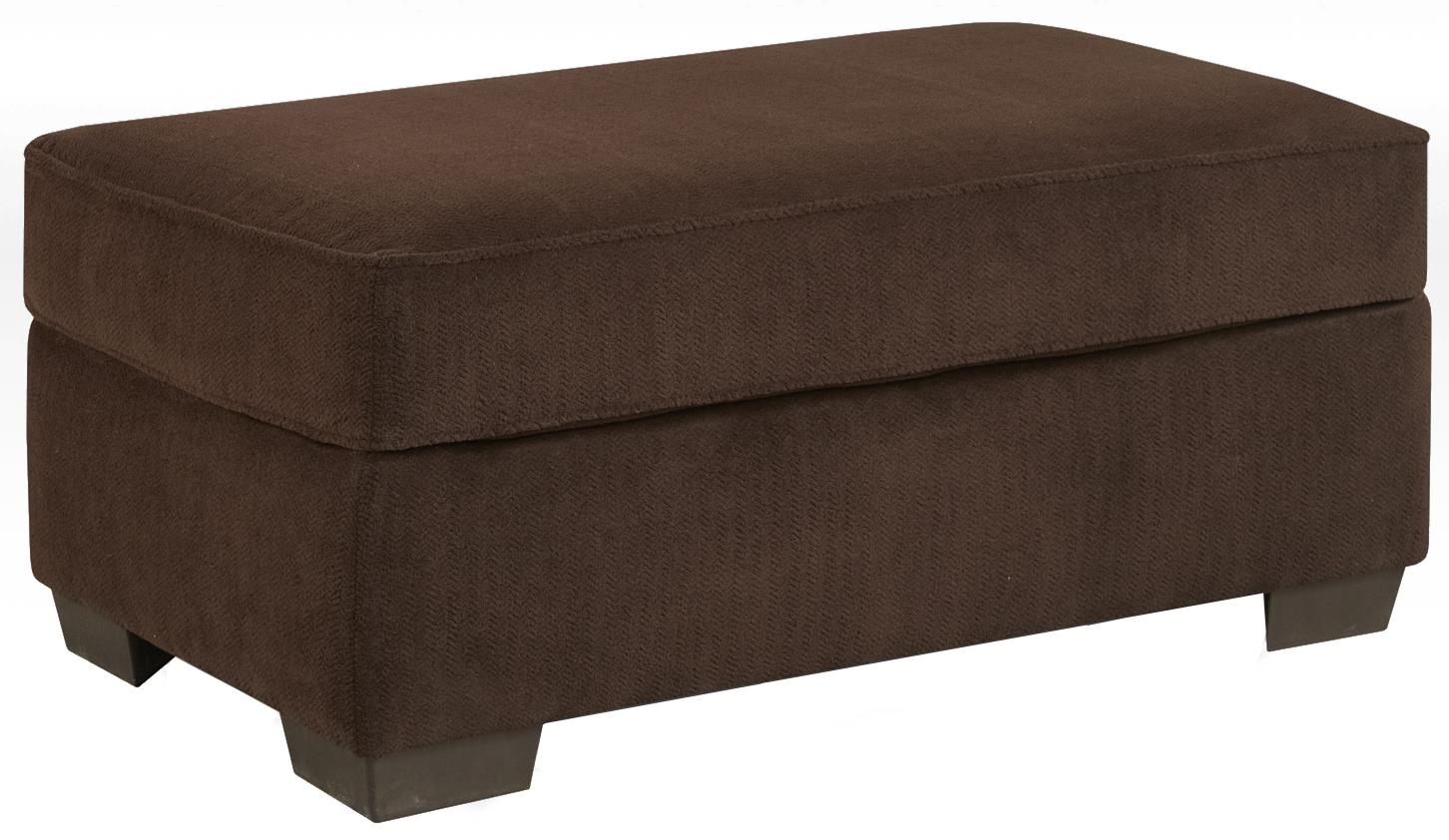 Affordable Furniture 7300 Cocktail Ottoman - Item Number: 7305 Chevron Mink