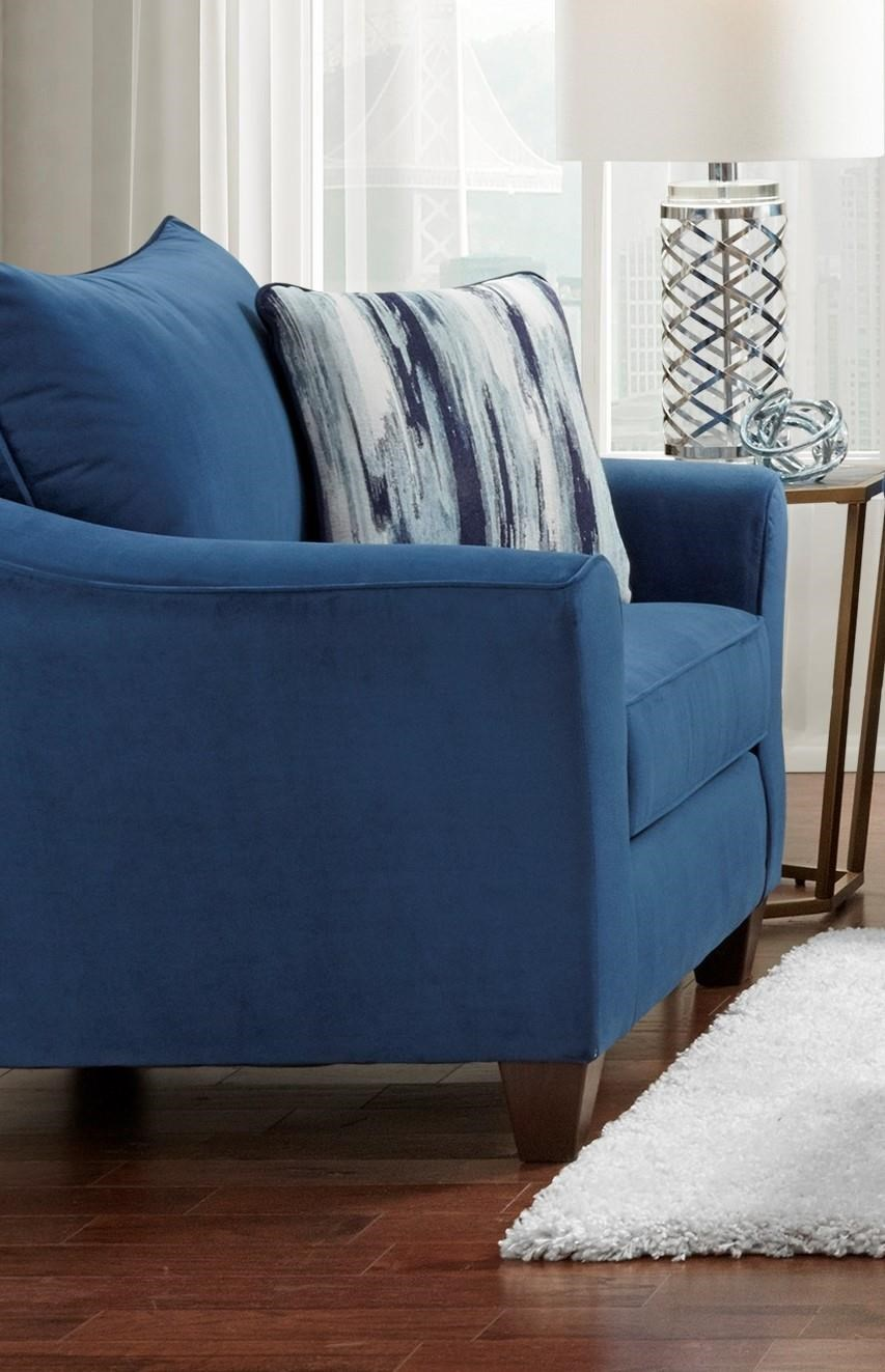 Affordable Furniture 7700 7701 Navy Chair Chair And A Half