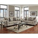 Affordable Furniture 7700 Contemporary Loveseat with Flared Arms