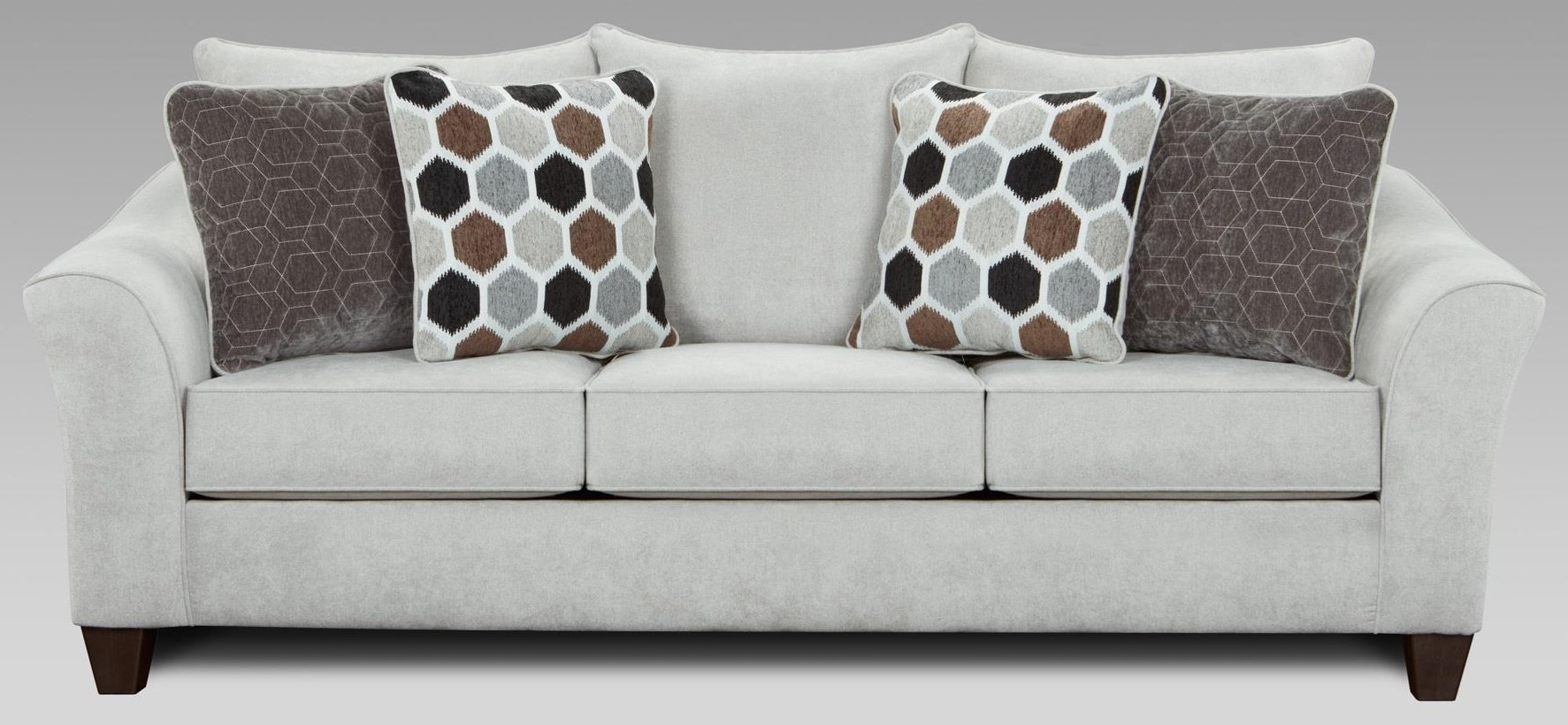 7700 Sofa with Flared Arms by Affordable Furniture at Furniture Fair - North Carolina