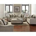 Affordable Furniture 7700 Rectangular Cocktail Ottoman