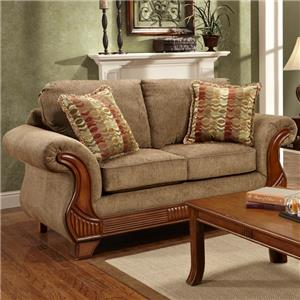 Affordable Furniture 8400 Traditional Loveseat