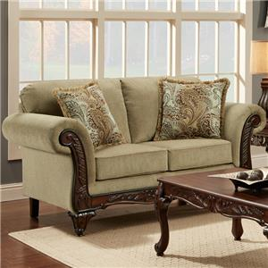 Affordable Furniture 8500 Traditional Loveseat