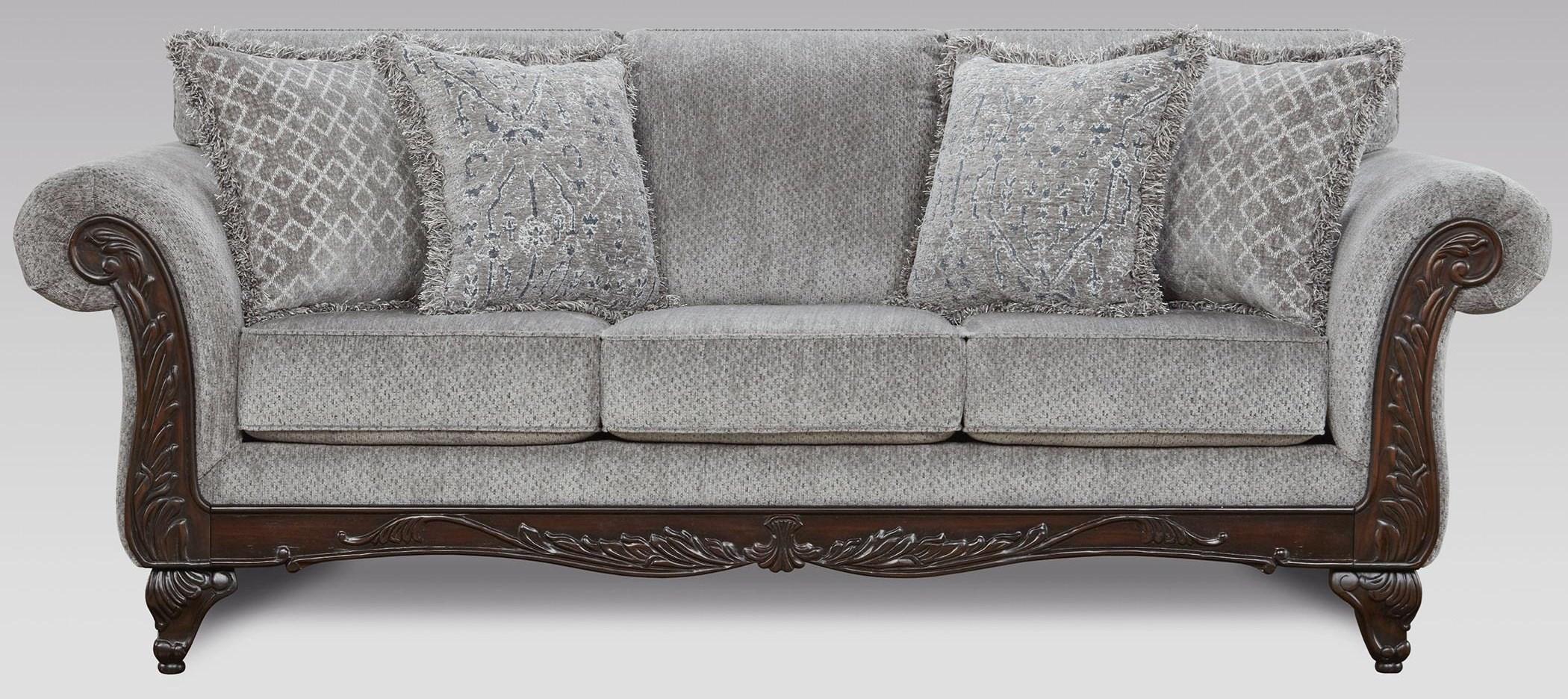 8550 Emma Upholstered Sofa by Affordable Furniture at Furniture Fair - North Carolina