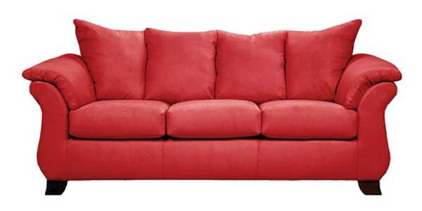 Affordable Furniture Sensations Red Brick Sofa - Item Number: 670620