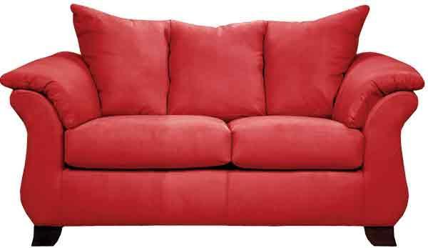 Affordable Furniture Sensations Red Brick Loveseat - Item Number: 670630