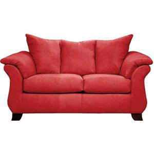 Affordable Furniture Sensations Red Brick Loveseat