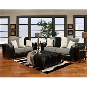 Affordable Furniture 6300 Sofa and Love Seat