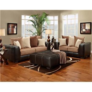 Affordable Furniture Sea Rider Collection Sea Rider Sofa & Loveseat