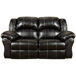 Affordable Furniture 1002 Taos Black Reclining Loveseat