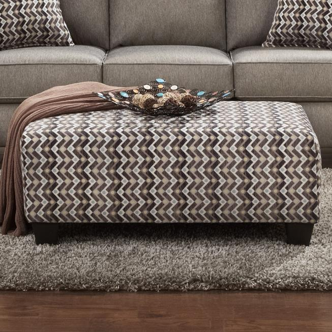 9005 Cocktail Ottoman by Affordable Furniture at Wilcox Furniture