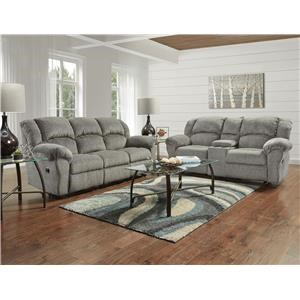 Affordable Furniture Allure Grey Reclining Loveseat - 1020-AG