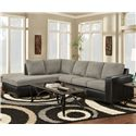 Affordable Furniture 3650 Sofa Sectional - Item Number: 3651GRAYLFT+3652GRAYRGHT