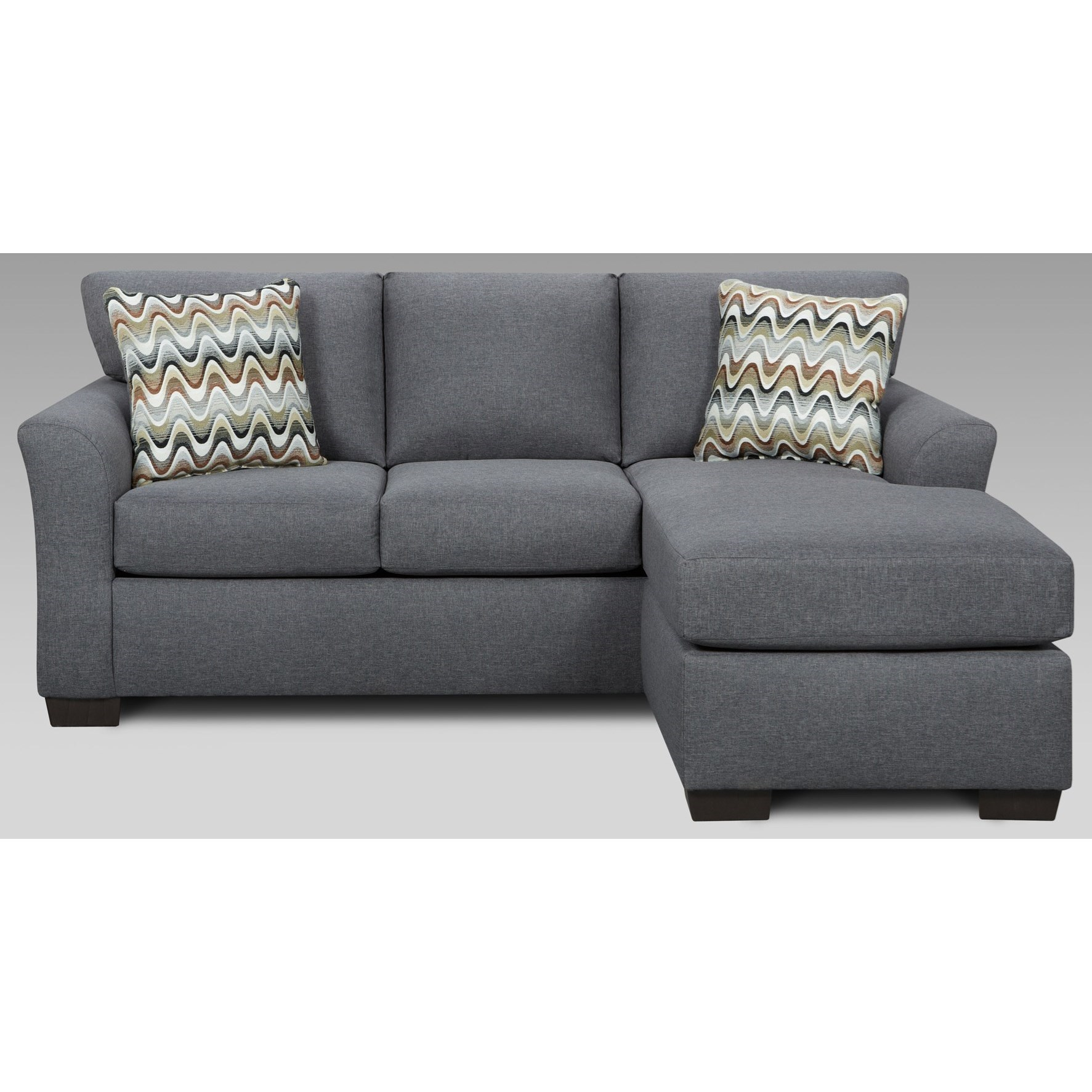 Affordable Furniture Cosmopolitan 3900 Sofa With Chaise   Item Number:  3903 Grey