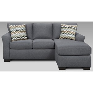 Affordable Furniture Cosmopolitan 3900 Sofa with Chaise - 3903-grey