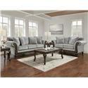Affordable Furniture Emma Slate Sofa and Loveseat - Item Number: 8552LES + 8553SES