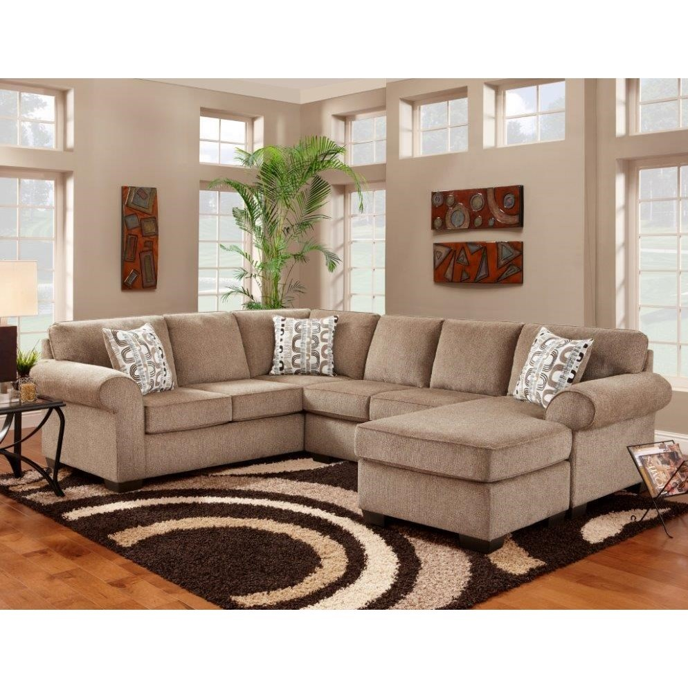 Affordable Furniture Jess Sectional With Floating Chaise