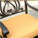 Agio Amalfi Outdoor Alumicast Dining Arm Chair with Sunbrella Fabric-Upholstered Cushion Seat - 50-150710-3871 - Removable Cushion Seat Keeps You Comfortable While Enjoying the Outdoors