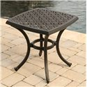Agio Amalfi Alumicast Outdoor Square-Top End Table with Ornate Casting Details - 9847-22225-370L