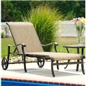 Agio Ashmost Outdoor Chaise Lounge with Wheels and Woven Body Set Against Cast Aluminum Frame - 0099027