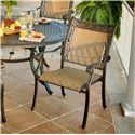 Apricity Outdoor Ashmost 5 Piece Sling Dining Chair and Round Cast Aluminum Table Dining Set - Dining Chair