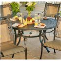 Apricity Outdoor Ashmost 5 Piece Sling Dining Chair and Round Cast Aluminum Table Dining Set - Round Dining Table