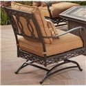 Agio Ashmost Outdoor Spring Cast Aluminum Chair with Cushions - 0123830 - Back View of Spring Chair with Cushions