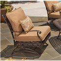 Agio Ashmost Outdoor Spring Cast Aluminum Chair with Cushions - 0123830 - Side View of Spring Chair with Cushions