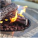 Apricity Outdoor Ashmost Hexagonal Cast Aluminum Outdoor Firepit Chat Table with Tile Center - 0123831