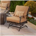 Agio Ashmost 5 Piece Spring Chair with Cushions and Firepit Chat Set - 0129596 - Front View of Spring Chair with Cushions