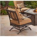 Agio Ashmost 5 Piece Spring Chair with Cushions and Firepit Chat Set - 0129596 - Side View of Spring Chair with Cushions
