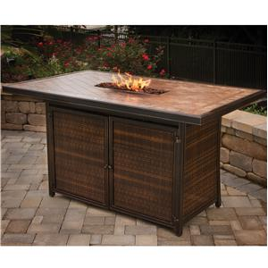 Dining Bar with Strip Burner and 2 Doors for Storage