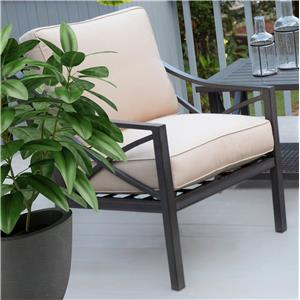 Woven and Aluminum Deep Seating Lounge Chair