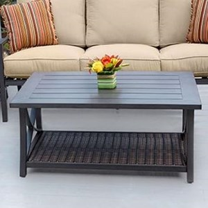 Woven and Aluminum Coffee Table