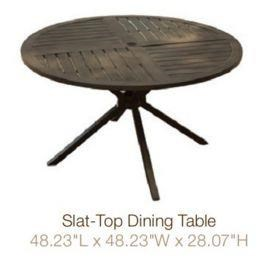 Agio Davenport Slat- Top Dining Table