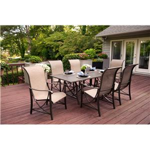 Agio Davenport 7Pc Outdoor Dining Set