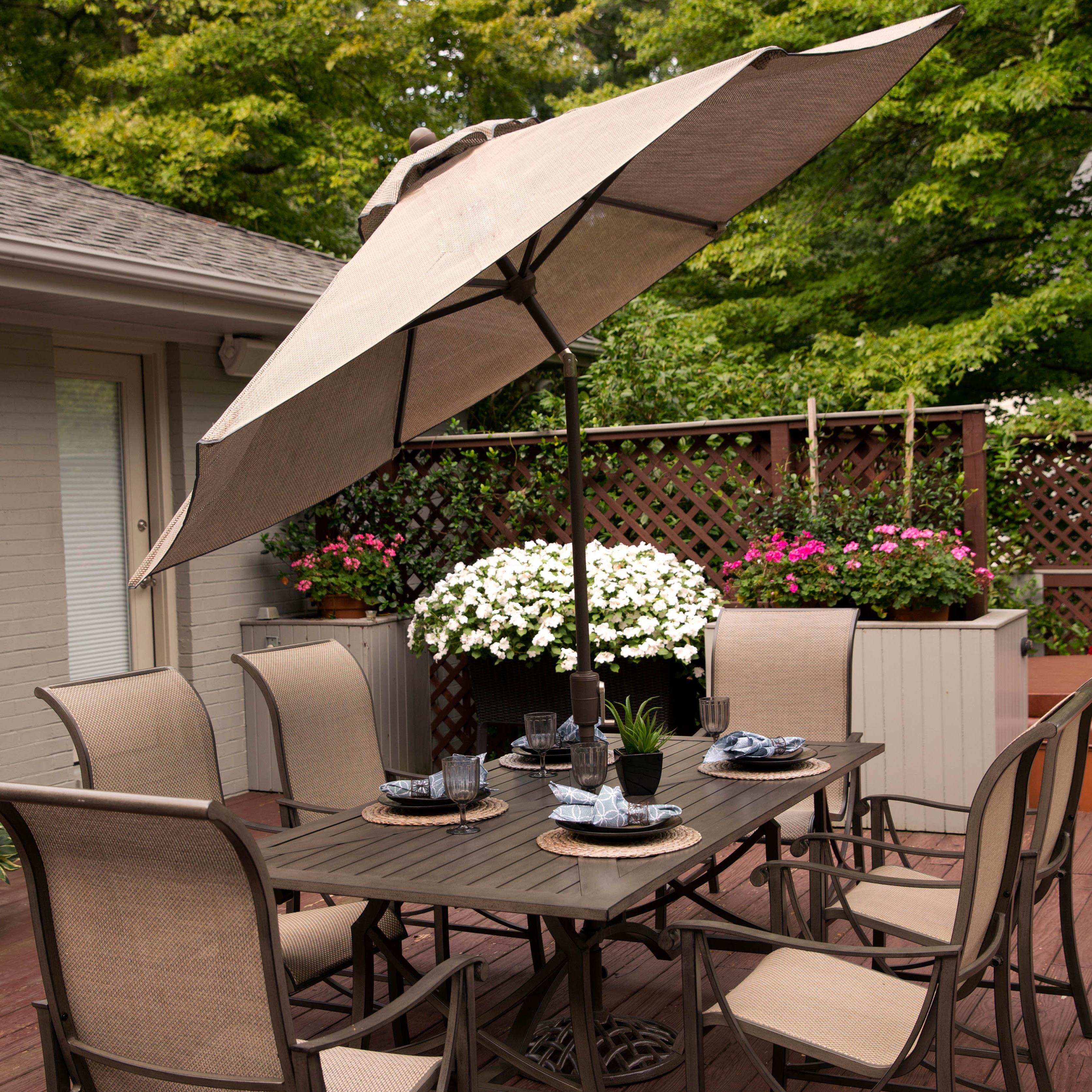 Agio Davenport 9ft Market Umbrella - Item Number: BZB00504P15+AZB00205P36
