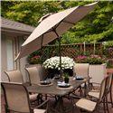 Agio Davenport Market Umbrella - Item Number: BZB00504P15+AZB00205P36